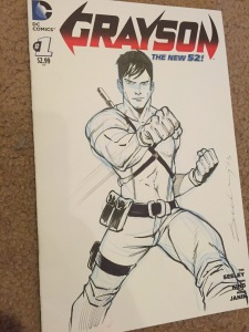 Grayson Sketch from Tim Seeley