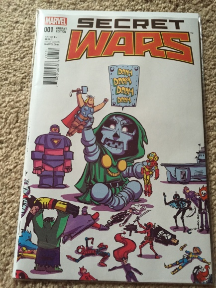 Secret Wars #1 Scottie Young Baby Variant Cover