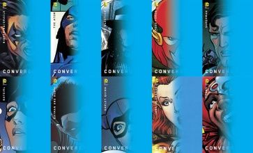 Chip Kidd Variant Covers of Several DC Convergence Tie-In Miniseries