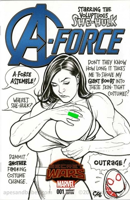 Frank Cho Causes Controversy Yet Again for 'Explicit' A-Force #1 Sketch Cover [IMAGES]