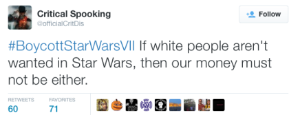 "White Nationalist Create Loud Boycott Campaign of Star Wars: The Force Awakens for Being ""Anti-White"""