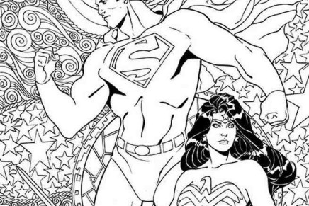 Complete List of All 25 Coloring Book Variant Covers, DC Comics January 2016 [IMAGE GALLERY]
