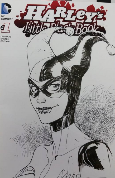 Harley Quinn Original Sketch Covers Actually Do Exist